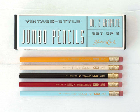 Vintage Style Jumbo Pencil Set