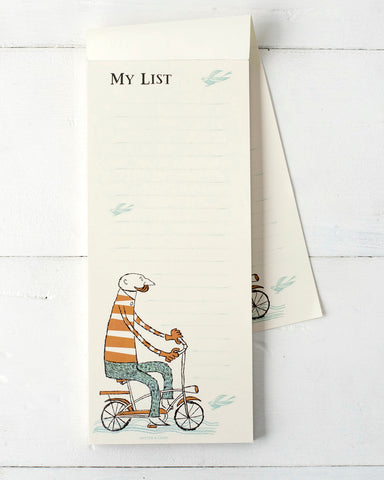 Hipster Bicyclist Notepad