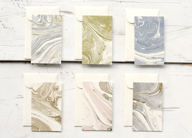 Marbled Enclosure Cards
