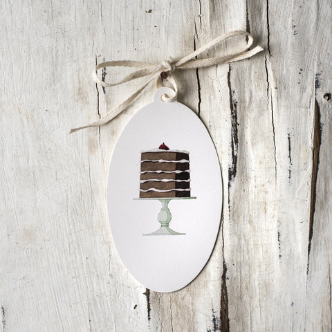 Five Tier Cake Gift Tag