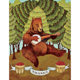 Thanks Banjo Bear Card