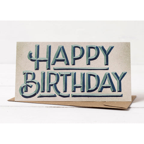 Beveled Birthday Card