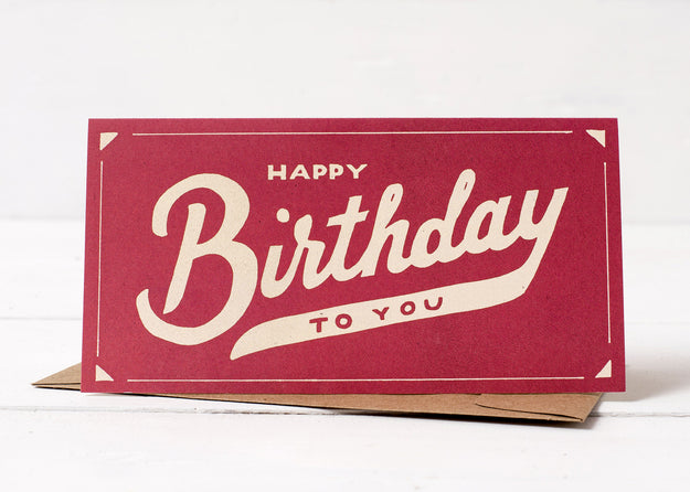 Script Birthday Card
