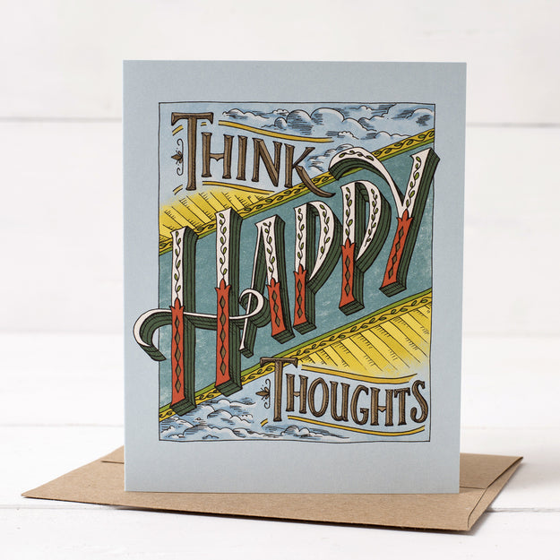 Think Happy Thoughts Card