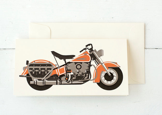 Vintage Motorcycle Card