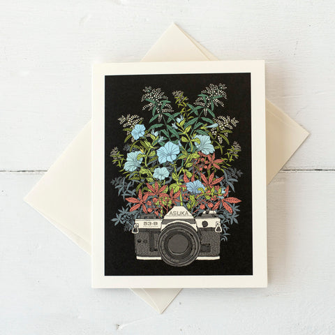 Floral Camera Card