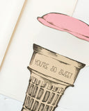 Die-Cut Ice Cream Cone Card