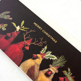 Christmas Cardinals Boxed Set Cards - Gold Foil