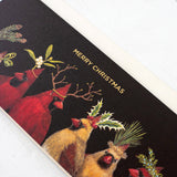 Christmas Cardinal card-gold foil (single card)