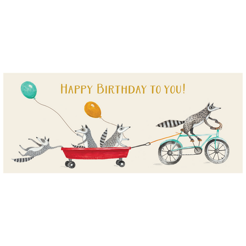 Happy Birthday Raccoons Card