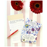 China Blue Floral Fold Note