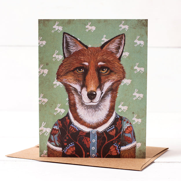 Miss Rosa Red Le Fox Card