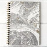 Gray & Gold Marbled Journal