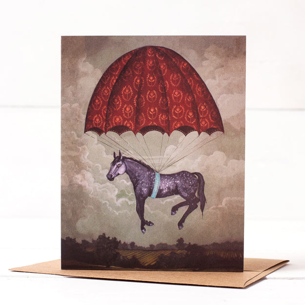 Parachute Pony Card