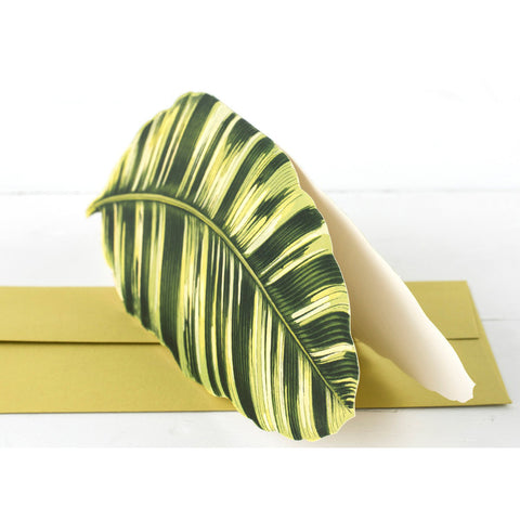 Die-Cut Banana Palm Leaf