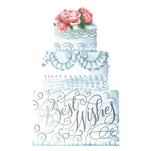 Best Wishes Cake Grand Flat Note