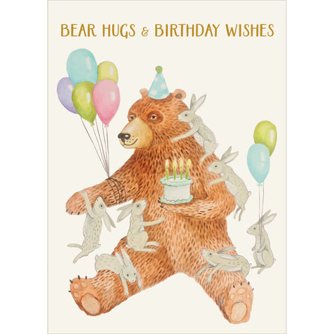 Bear Hugs & Birthday Wishes Card