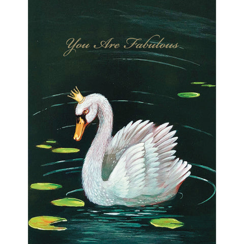 Fabulous Swan Card