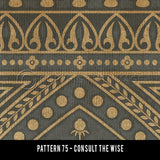 Consult the Wise Vinyl Rug - Pattern 75