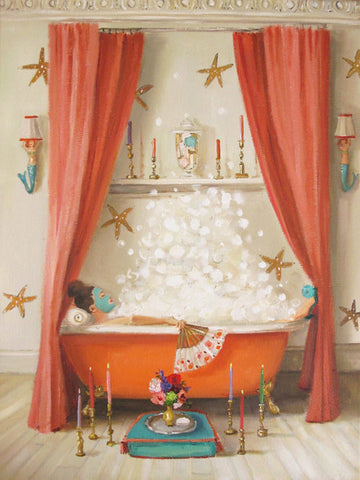 Princess Edwina Takes a Bath Large Art Print
