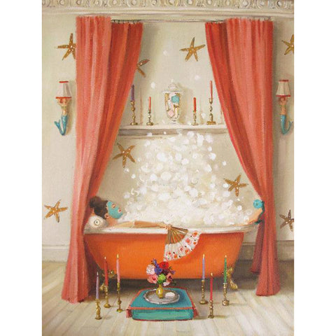 Princess Edwina Takes A Bath Small Art Print