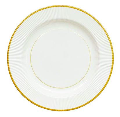 Classic Gold Righe Paper Plate