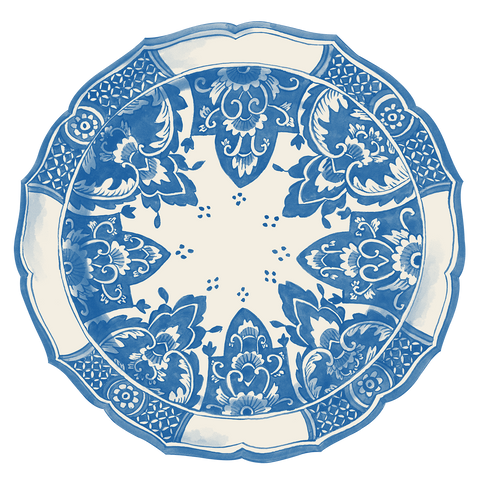 Die-Cut China Blue Placemat