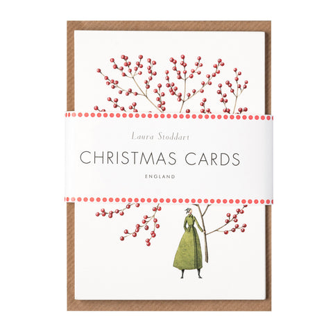 Red Berries Set of 10 Greeting Cards