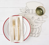 Die-Cut Coloring Snowman Placemat