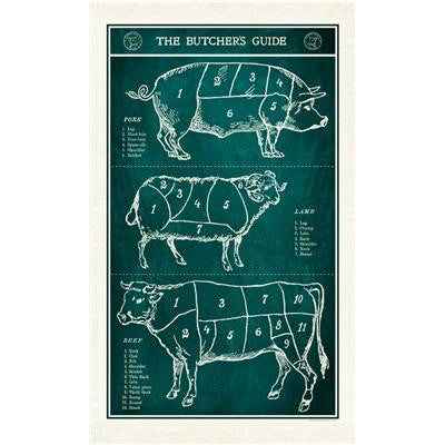 Butchers Guide Tea Towel