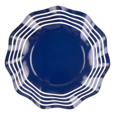 Summer Navy Wavy Appetizer Bowl
