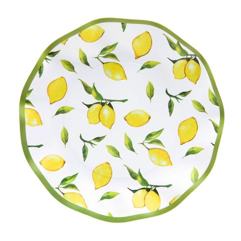 Lemon Drop Wavy Plates