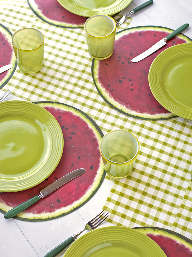 Green Painted Check Placemat Hester Amp Cook