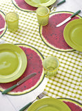 Green Painted Check Placemat