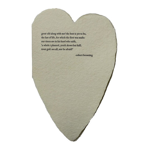 Browning Quote Deckled Heart Card