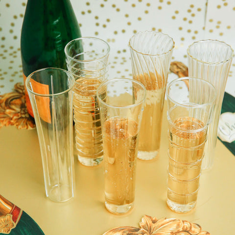 Venetian Style Champagne Flutes Set of 6