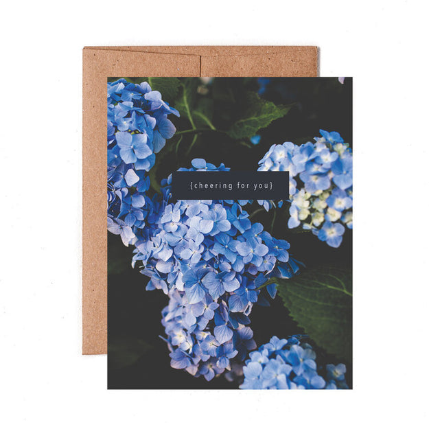 Cheering For You Hydrangea Card