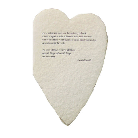 Corinthians Quote Deckled Heart Card