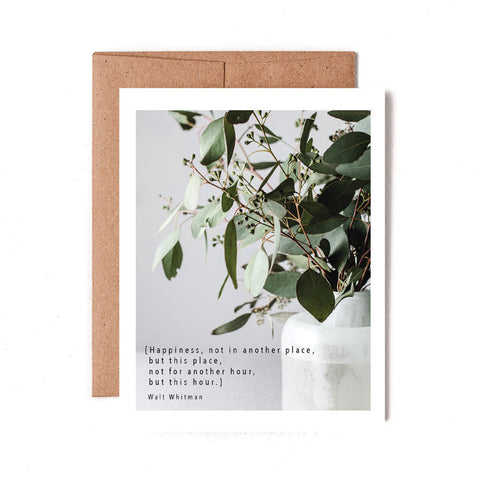 Walt Whitman Happiness Quote Greeting Card