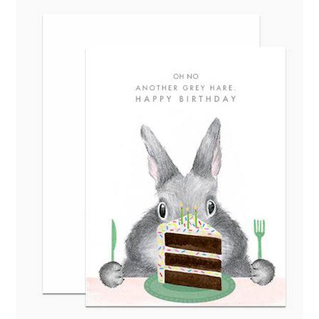 Another Grey Hare Card Set of 6