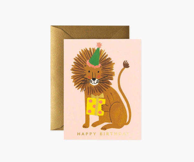 Lion Birthday Greeting Card