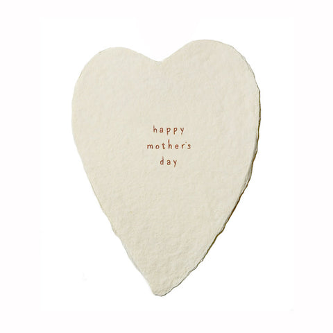Happy Mother's Day Greeted Heart Card