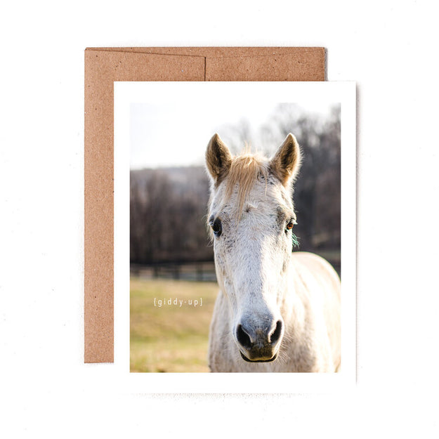 Giddy Up Greeting Card