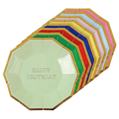 Happy Birthday Large Plates