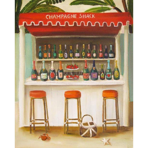Champagne Shack Small Art Print