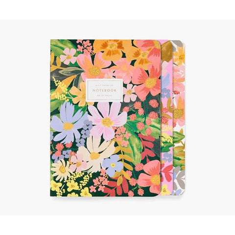 Set of 3 Marguerite Stitched Notebooks