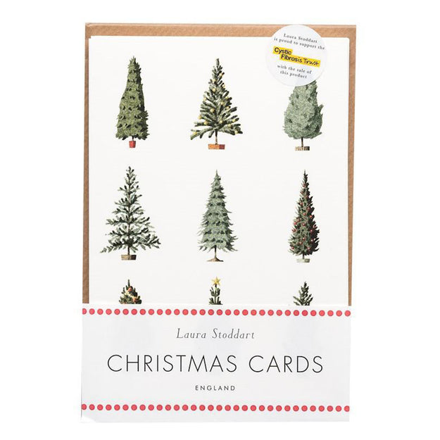 Christmas Tree Pack of 10 Greeting Cards