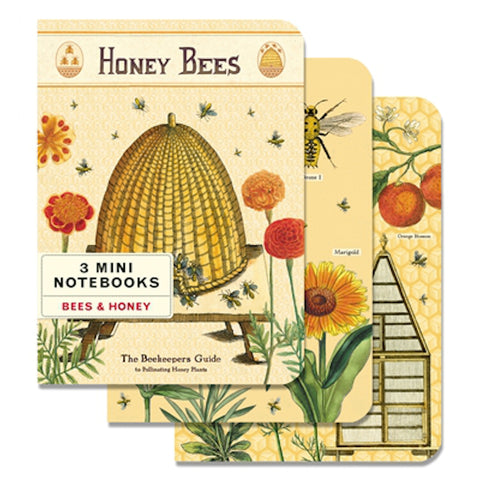 Bees & Honey 3 Mini Notebooks