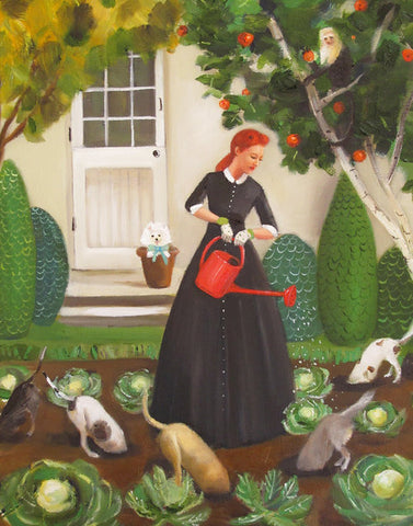 Miss Moon Was a Dog Governess - Lesson Eighteen Small Art Print