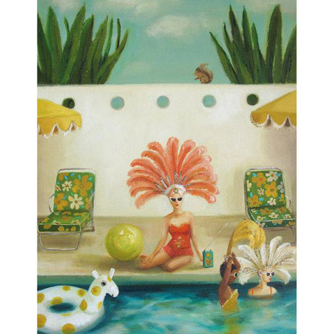 Poolside Large Art Print